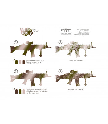 "Stencil Set ""Tactical Honey"""