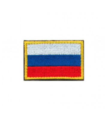 Russian flag Patch with golden border