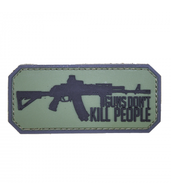 """Guns Don't Kill People"" PVC Patch"
