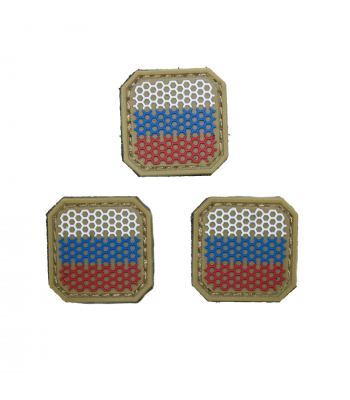 """Small Russian Web Flag"" PVC Patch"