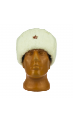 White Winter Ushanka Hat