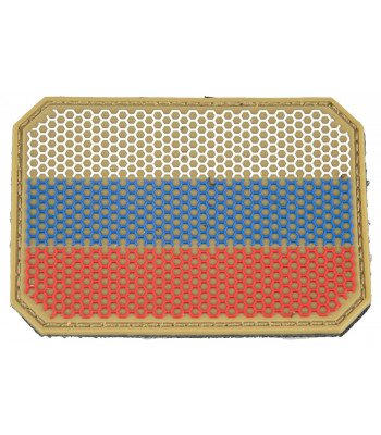"""Big Russian Web Flag""  PVC Patch"