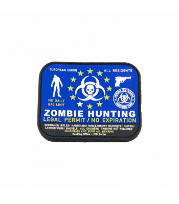 """Zombie Hunting"" PVC Patch"