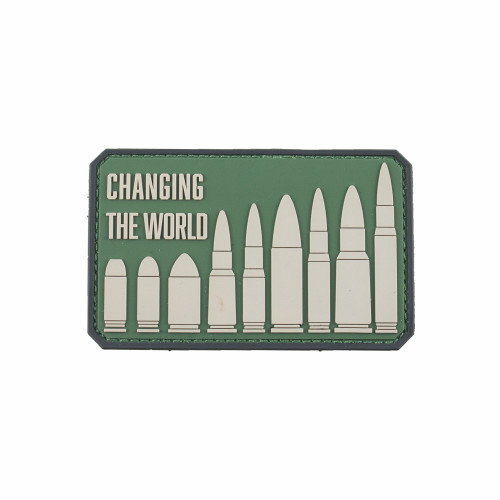 """Changing the World"" PVC Patch"