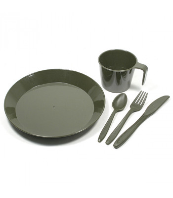"Field Set of Dishes ""Halt"""
