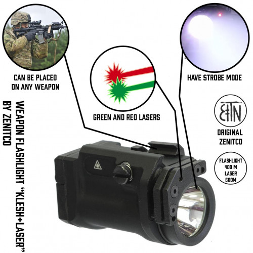 "Weapon Flashlight ""Klesh+Laser"""