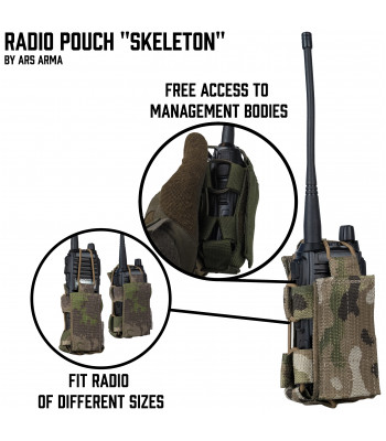 "Radio Pouch ""Skeleton"""