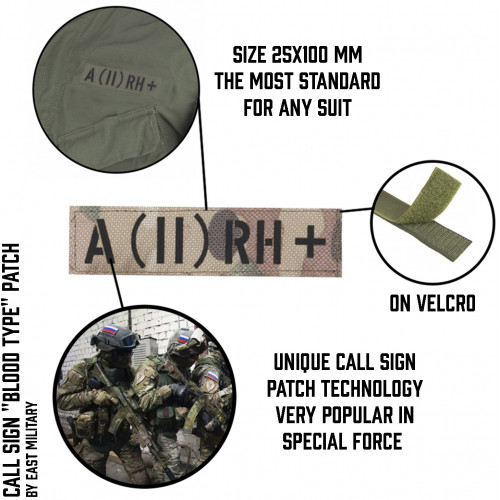 "Call Sign Patch ""Blood Type"""