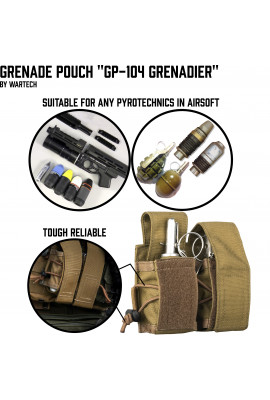Grenade pouch for 2 VOG/F-1