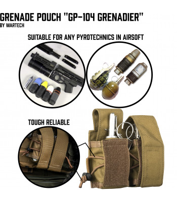 "Grenade pouch for 2 VOG/F-1 ""GP-104 Grenadier"""