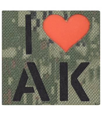 """Call Sign Patch """"I love AK"""""""