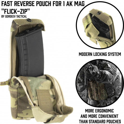 "Fast Reverse pouch for 1 AK Mag ""Flick-zip"""