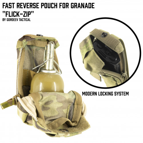 "Fast Reverse pouch for Grenade ""Flick-zip"""
