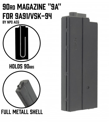 "90rd Magazine ""9a"" for 9a91/Vsk-94 AEG"