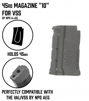 "45rd Magazine ""10""  for VSS AEG"