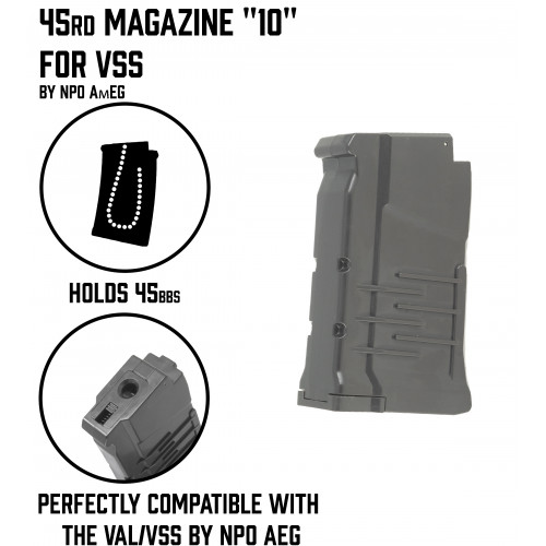"45rd Magazine ""10""  for VSS"