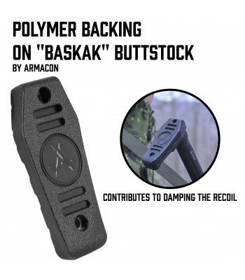 "Polymer backing on ""Baskak"" Buttstock"