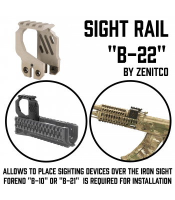 "Sight Rail ""B-22"""