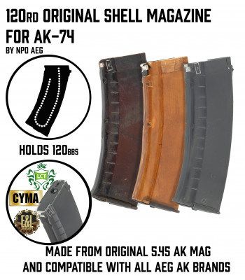 120rd Original Shell Magazine for AK AEG