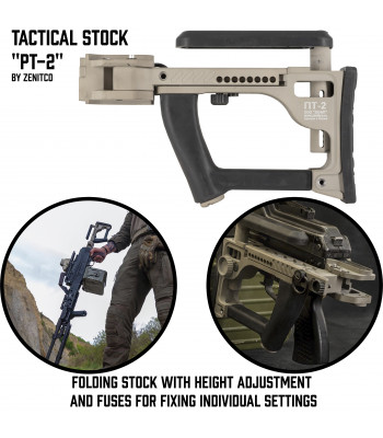 "Tactical Stock ""PT-2"" for PKM/PKP"