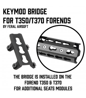"Keymod bridge for ""Panther"" Forends"