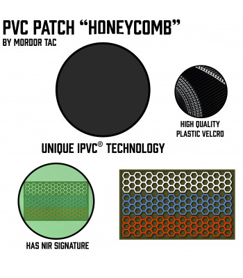 "PVC Patch ""Honeycomb"""