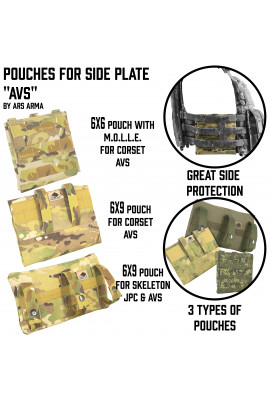 Side plates pouches for