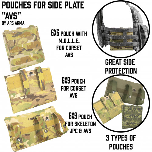 "Side plates pouches for ""AVS"""