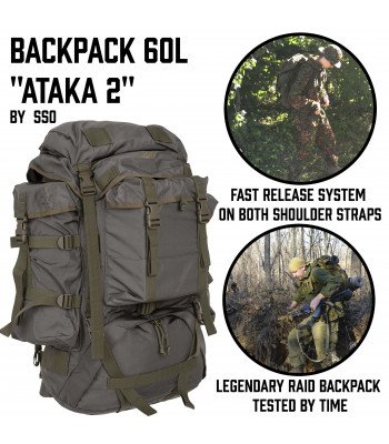 "Backpack ""Attack 2"" 60L"
