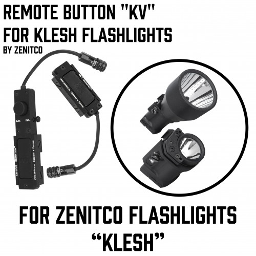 "Remote button ""KV"" for Klesh Flashlights"