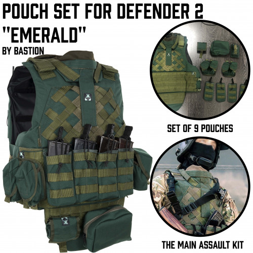 "Defender pouches set ""Emerald"""