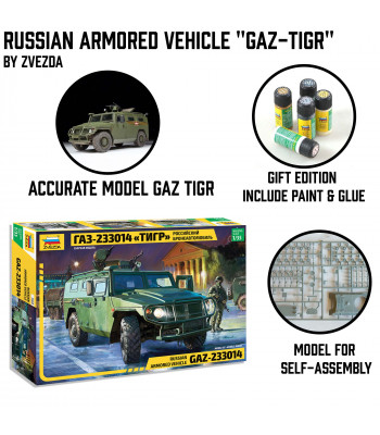 "Russian Armored Vehicle ""GAZ-Tiger"""