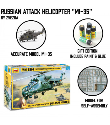 "Russian Attack Helicopter ""MI-35"""