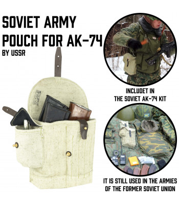 Soviet Army Pouch for 4 AK-74 mags