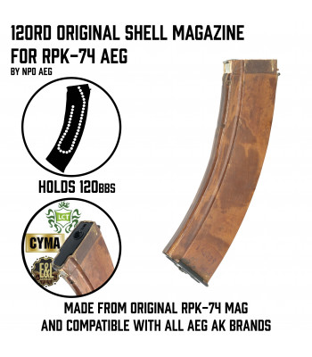 120rd Original Shell Magazine for RPK-74 AEG