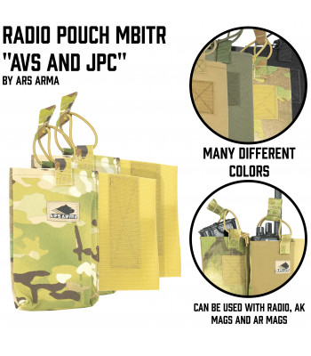 "Radio pouch ""MBITR"" for ""JPC"" & ""AVS"""