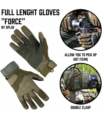 "Full lenght Gloves ""Force"""