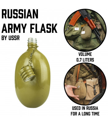 Russian Army Flask