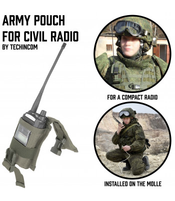 Army Pouch for Civil Radio