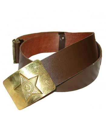 Soldier Trouser Belt with Shiny Star