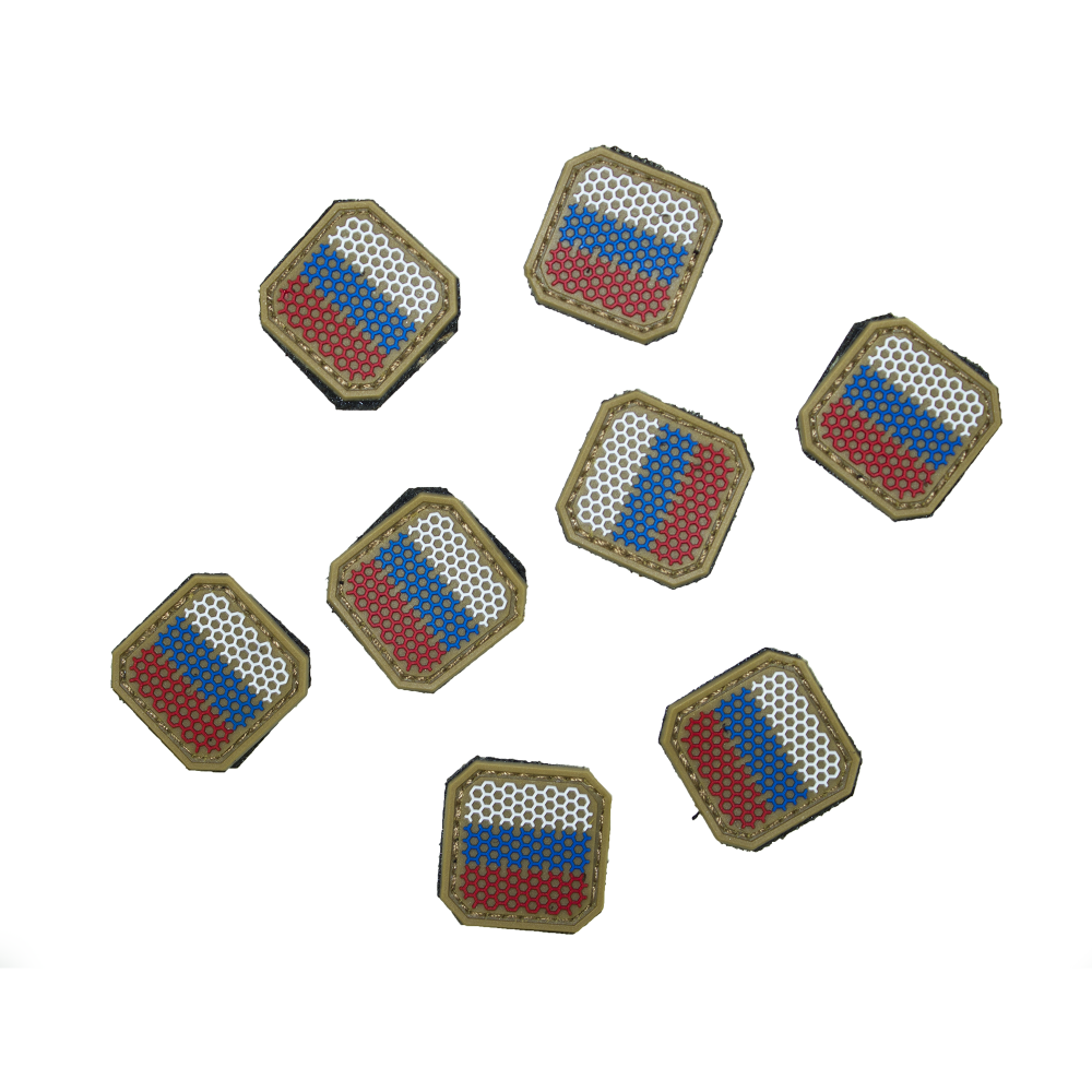 Small Rubber Russian Flag Patch