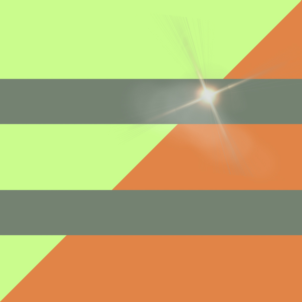 Light Green/Orange with Reflective lines