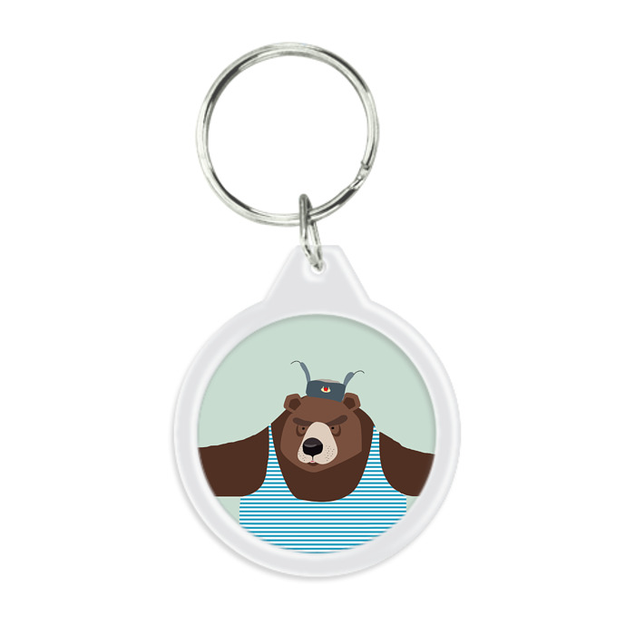 Bear in Telniashka Keyring